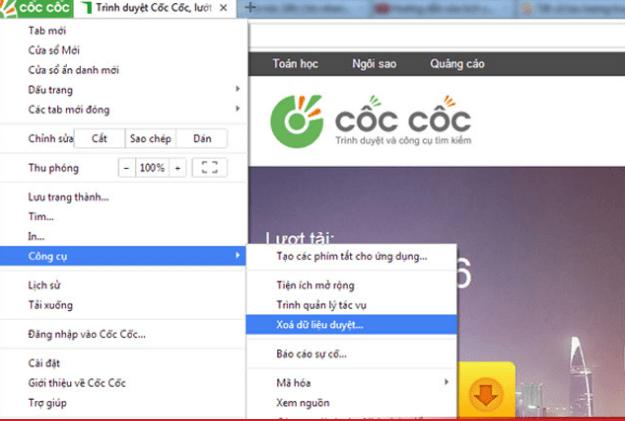 Настройки Coc Coc Browser